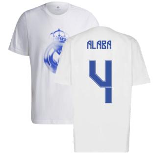 Real Madrid 2021-2022 Training Tee (White-Blue) (ALABA 4)