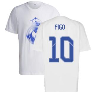Real Madrid 2021-2022 Training Tee (White-Blue) (FIGO 10)