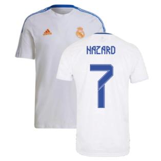 Real Madrid 2021-2022 Training Tee (White) (HAZARD 7)