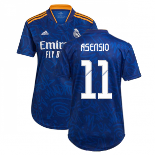 Real Madrid 2021-2022 Womens Away Shirt (ASENSIO 11)