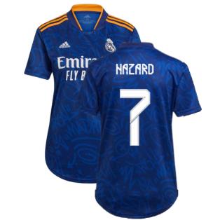 Real Madrid 2021-2022 Womens Away Shirt (HAZARD 7)