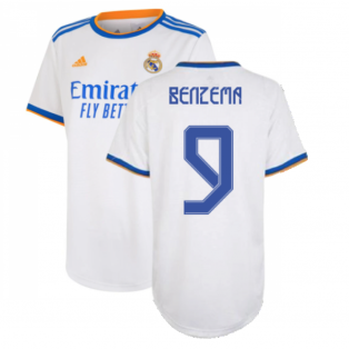 Real Madrid 2021-2022 Womens Home Shirt (BENZEMA 9)