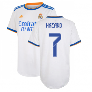 Real Madrid 2021-2022 Womens Home Shirt (HAZARD 7)