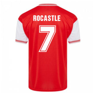 Score Draw Arsenal 1985 Centenary Retro Football Shirt (ROCASTLE 7)