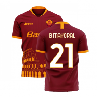 Roma 2020-2021 Home Concept Football Kit (Libero) (B MAYORAL 21)