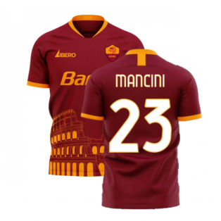 Roma 2020-2021 Home Concept Football Kit (Libero) (MANCINI 23)