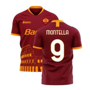 Roma 2020-2021 Home Concept Football Kit (Libero) (MONTELLA 9)