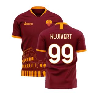 Roma 2020-2021 Home Concept Football Kit (Libero) - No Sponsor (KLUIVERT 99)