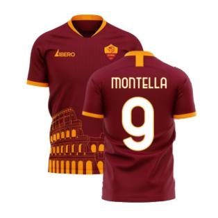 Roma 2020-2021 Home Concept Football Kit (Libero) - No Sponsor (MONTELLA 9)