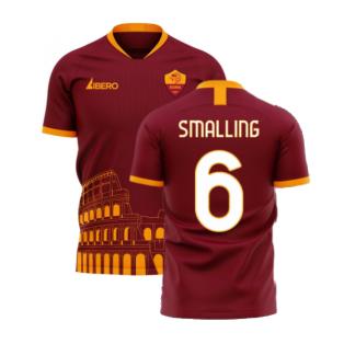Roma 2020-2021 Home Concept Football Kit (Libero) - No Sponsor (SMALLING 6)