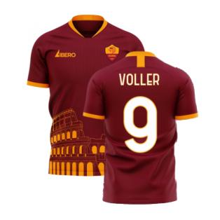 Roma 2020-2021 Home Concept Football Kit (Libero) - No Sponsor (VOLLER 9)