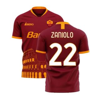 Roma 2020-2021 Home Concept Football Kit (Libero) (ZANIOLO 22)