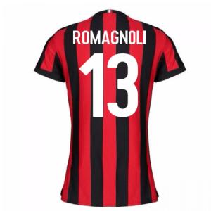 2017-2018 AC Milan Womens Home Shirt (Romagnoli 13)