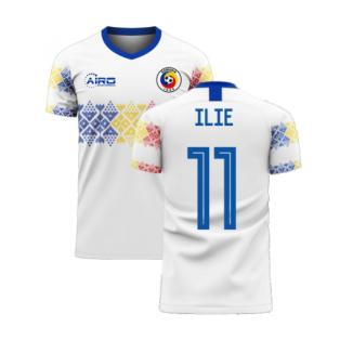 Romania 2020-2021 Away Concept Football Kit (Libero) (ILIE 11)