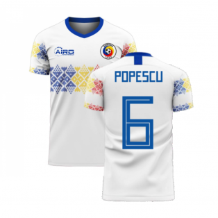 Romania 2020-2021 Away Concept Football Kit (Libero) (POPESCU 6)