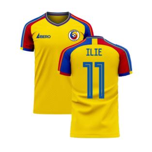 Romania 2020-2021 Home Concept Football Kit (Libero) (ILIE 11)