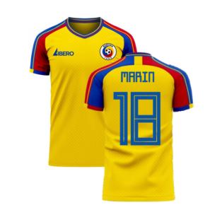 Romania 2020-2021 Home Concept Football Kit (Libero) (MARIN 18)
