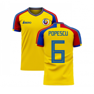 Romania 2020-2021 Home Concept Football Kit (Libero) (POPESCU 6)