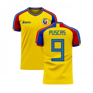 Romania 2020-2021 Home Concept Football Kit (Libero) (PUSCAS 9)