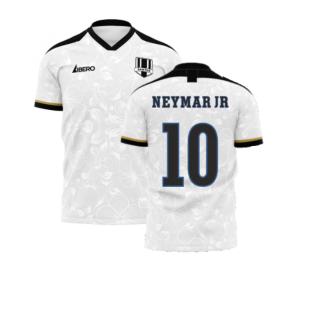 Santos 2020-2021 Home Concept Football Kit (Libero) (NEYMAR JR 10)