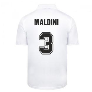 Score Draw Ac Milan 1988 Away Retro Football Shirt (MALDINI 3)