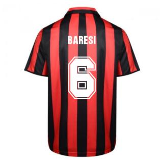 Score Draw Ac Milan 1988 Retro Football Shirt (BARESI 6)