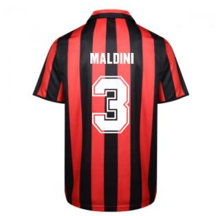 Score Draw Ac Milan 1988 Retro Football Shirt (MALDINI 3)