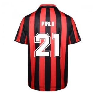 Score Draw Ac Milan 1988 Retro Football Shirt (PIRLO 21)