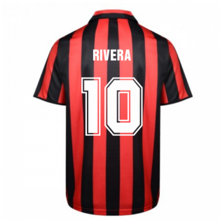 Score Draw Ac Milan 1988 Retro Football Shirt (RIVERA 10)