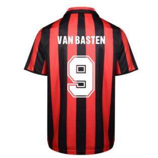 Score Draw Ac Milan 1988 Retro Football Shirt (VAN BASTEN 9)