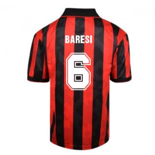 Score Draw AC Milan 1994 Retro Football Shirt (BARESI 6)