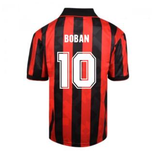 Score Draw AC Milan 1994 Retro Football Shirt (BOBAN 10)