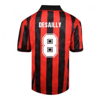 Score Draw AC Milan 1994 Retro Football Shirt (DESAILLY 8)