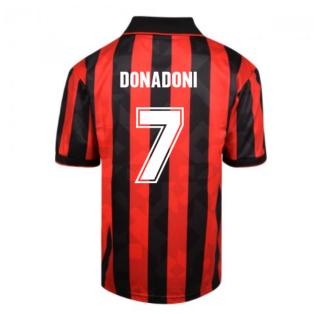 Score Draw AC Milan 1994 Retro Football Shirt (Donadoni 7)