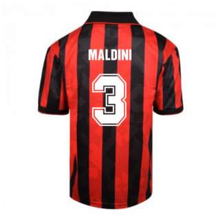 Score Draw AC Milan 1994 Retro Football Shirt (MALDINI 3)