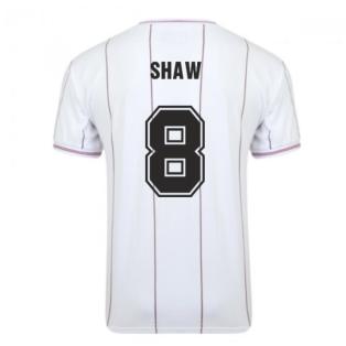 Score Draw Aston Villa 1982 Euro Final Retro Football Shirt (Shaw 8)