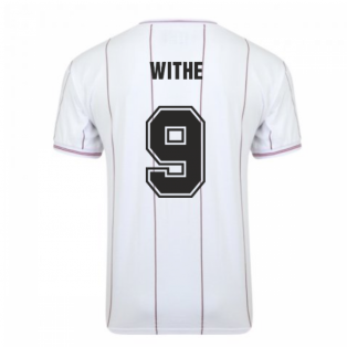 Score Draw Aston Villa 1982 Euro Final Retro Football Shirt (Withe 9)
