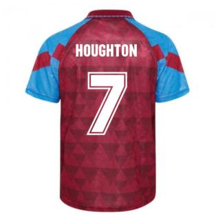 Score Draw Aston Villa 1990 Retro Football Shirt (Houghton 7)