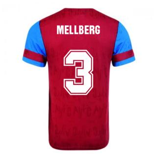 Score Draw Aston Villa 1992 Retro Football Shirt (Mellberg 3)