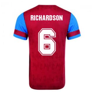 Score Draw Aston Villa 1992 Retro Football Shirt (Richardson 6)