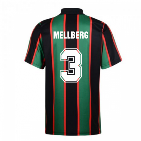 Score Draw Aston Villa 1994 Away Retro Shirt (Mellberg 3)