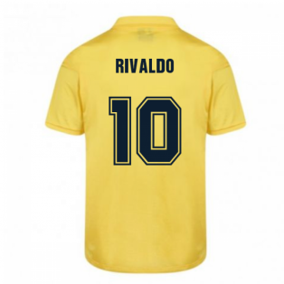 Score Draw Barcelona 1982 Away Shirt (RIVALDO 10)
