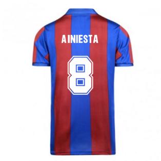Score Draw Barcelona 1982 Home Shirt (A.INIESTA 8)