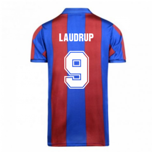 Score Draw Barcelona 1982 Home Shirt (LAUDRUP 9)