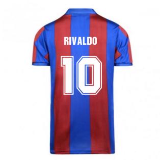Score Draw Barcelona 1982 Home Shirt (RIVALDO 10)