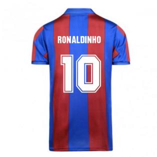 Score Draw Barcelona 1982 Home Shirt (RONALDINHO 10)