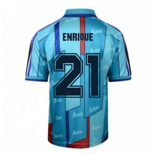 Score Draw Barcelona 1997 ECWC Final Retro Football Shirt (Enrique 21)