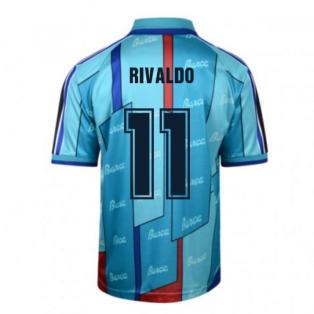 Score Draw Barcelona 1997 ECWC Final Retro Football Shirt (RIVALDO 11)