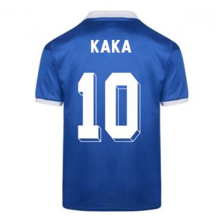 Score Draw Brazil 1986 World Cup Finals Away Shirt (KAKA 10)
