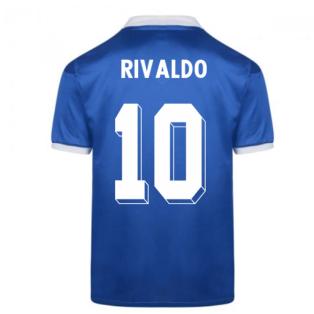 Score Draw Brazil 1986 World Cup Finals Away Shirt (RIVALDO 10)
